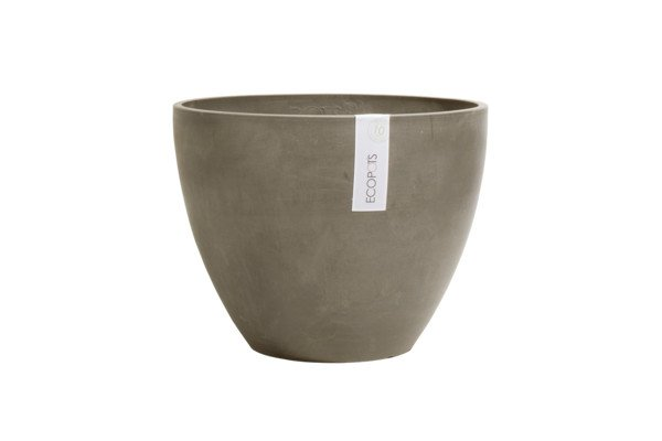ECOPOTS ANTWERP ROND EGG TAUPE 30 x 25,5cm